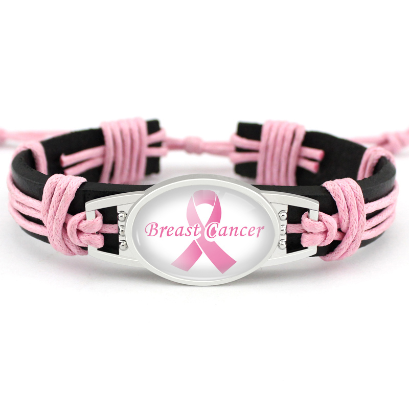Image 5 - Medical Alert Alzheimers Meningitis Lupus Epilepsy Pancreatic Cancer Domestic Violence Rett Syndrome Hope Ribbon LeatherBracelet-in Charm Bracelets from Jewelry & Accessories