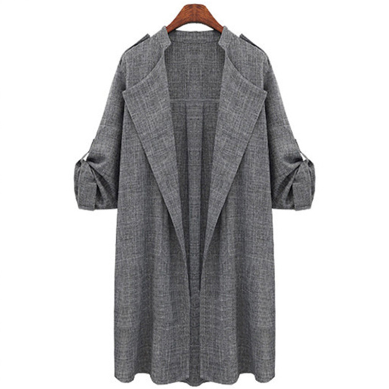 Korean Style Women Full Trench Coat Feminino 2019 Open Stitch Fashion Woman Winter Warm Coat Female Windproof Autumn Designer