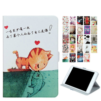 Tab A 8 0 T350 Flip PU Leather Case Cover Print Protective 8 Inch Smart Funda