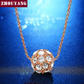 Lucky  Ball 1.3CM  Rose/White Gold Pated Pendant Necklace Jewelry CZ Crystal  Wholesale Top Quality ZYN252  ZYN168 ZYN264