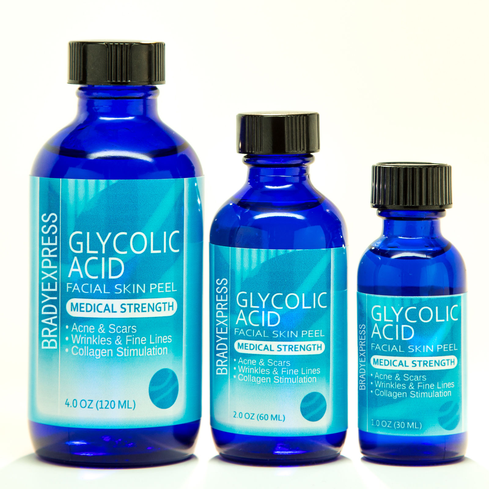 NEW GLYCOLIC ACID Chemical Peel Kit Medical Grade - 100% Pure! Acne, Scars, Wrinkles FREE SHIPPING