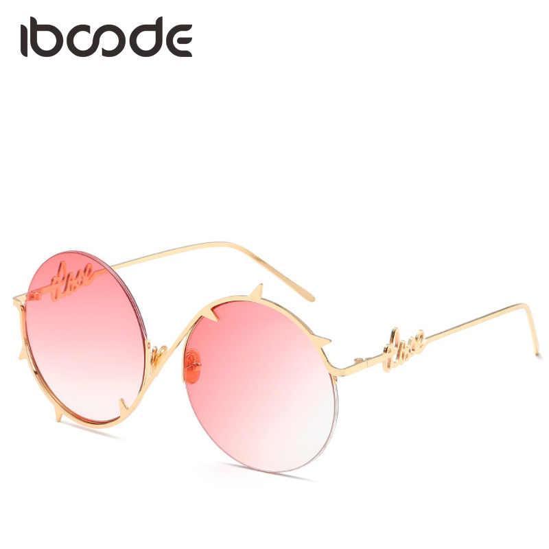 55129282f9c iboode Round Thorns Shape Sunglasses Bramble Frame Gradient Unique Design  for Men Women Street Personality Sun