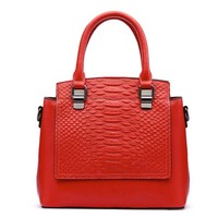 2017 Latest Women Bags Genuine Leather Crocodile Handbags Luxury Brand Ladies Shoulder Bag Hign Quality Totes
