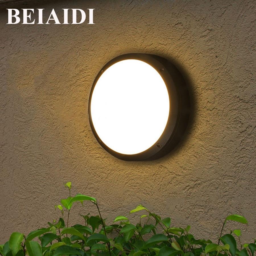 BEIAIDI 18W 2 in 1 Waterproof LED Wall Lamp Aisle Balcony Ceiling Wall Light Outdoor Courtyard Garden Corridor Patio Porch Light цена 2017