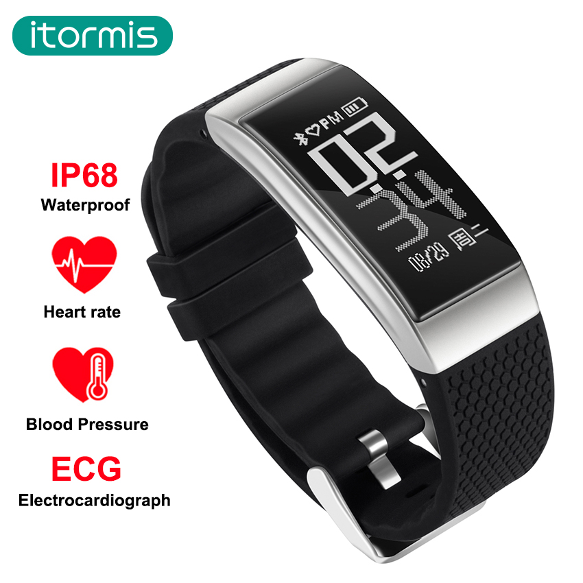 itormis smart band fitness bracelet SmartBand sports bluetooth IP68 ECG fitness tracker Pedometer Heart rate Blood pressure DB07 new ecg smart bracelet b9 smart wristband heart rate blood pressure smart band pedometer fitness tracker pk xiaomi mi band 2