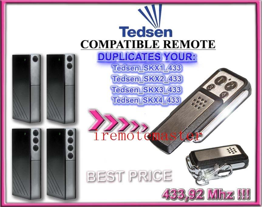 Good news! For Tedsen SKX1MD,Tedsen SKX2MD,Tedsen SKX3MD,Tedsen SKX4MD compatible remote top quality and favorable price news