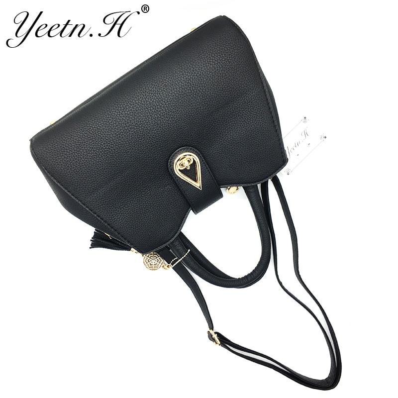 Yeetn.H New Arrival Woman Bag Fashion Handbag Shoulder Bag Classic PU - Beg tangan - Foto 6