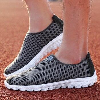 FABRECANDY ARTı boyutu Unisex Yaz Nefes Örgü erkek ayakkabısı Hafif Flats Erkekler rahat ayakkabılar sneakers Erkek plaj ayakkabısı