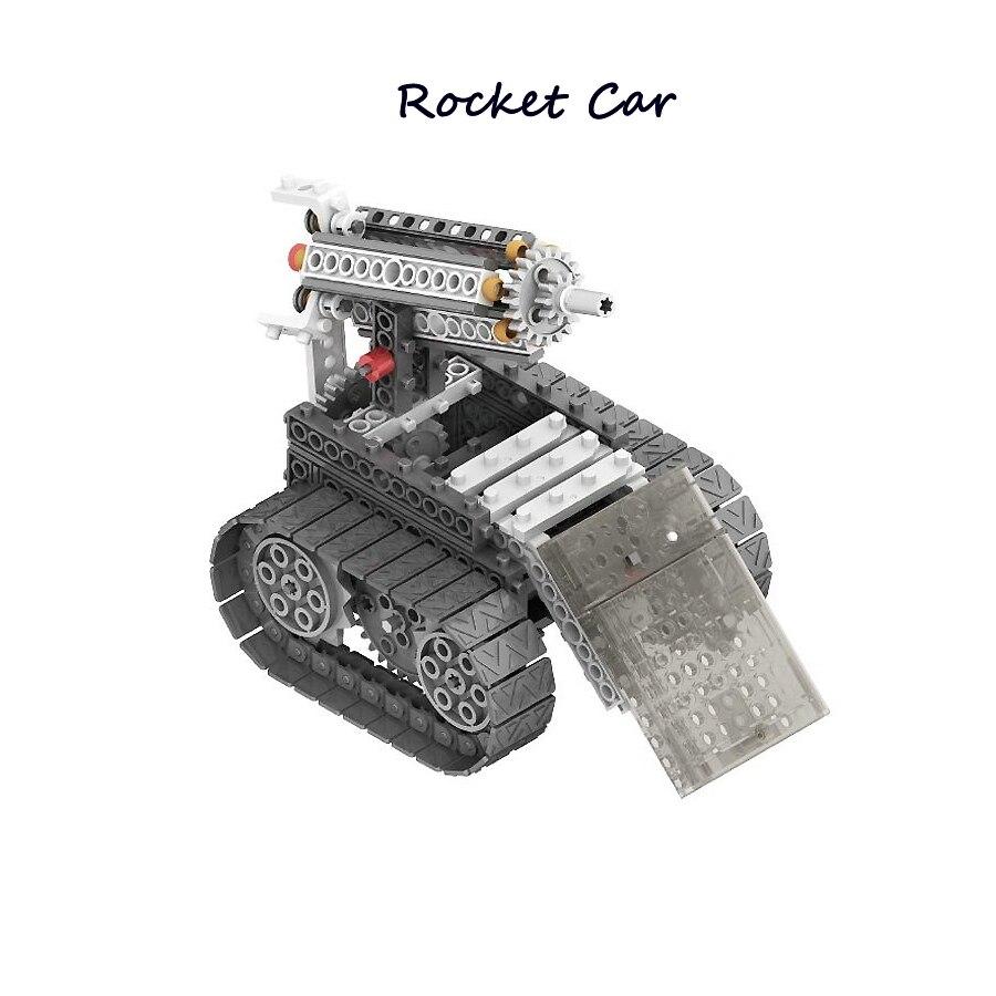DIY RC Blocs 4-en-1 Construction Ensemble RC Robotique Vechicles Motorisé L'exploration Spatiale Science Robots SOUCHES éducatifs modèle kit - 5