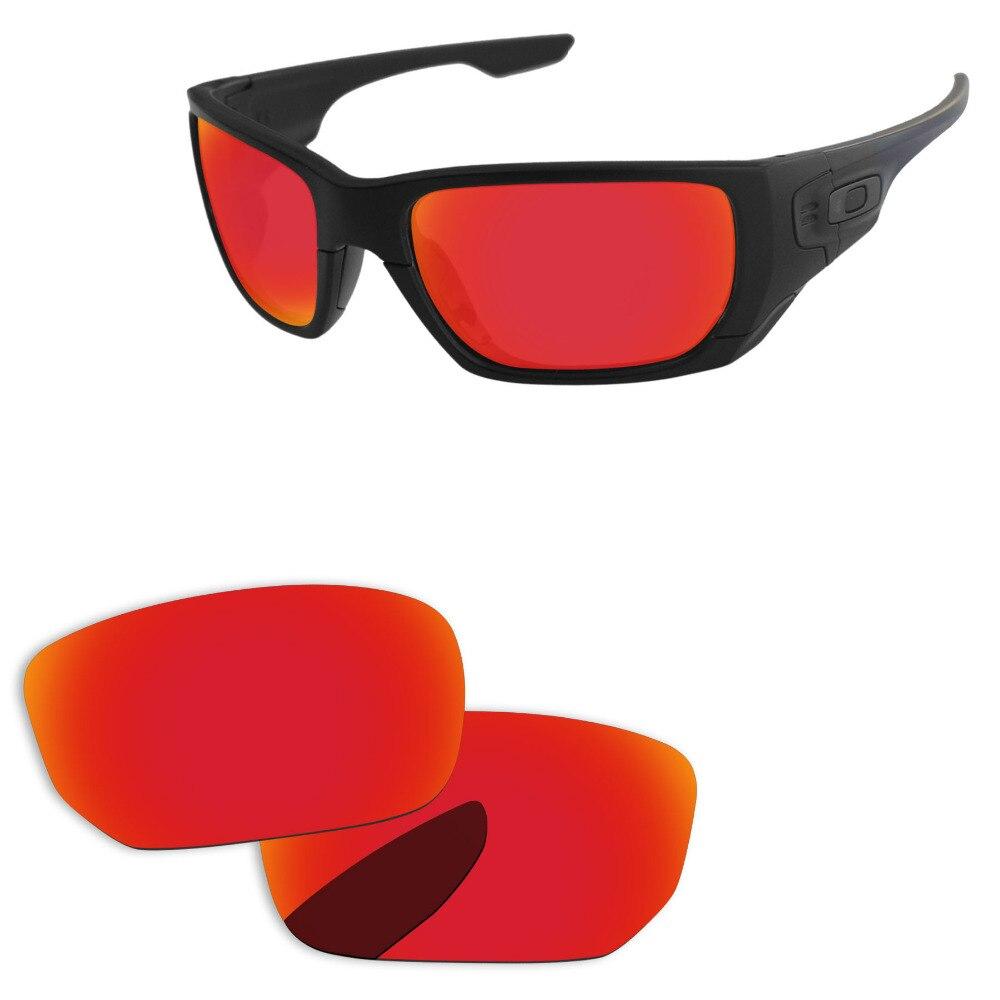 d0f8bf8acc Rojo fuego espejo polarizadas lentes para interruptor de estilo gafas de sol  marco 100% UVA y UVB protección