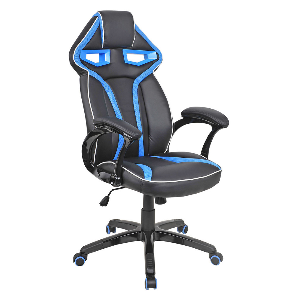 Racing Bucket Seat Office Chair High Back Gaming Chair Desk Task Ergonomic New HW54987LTBL 240340 high quality back pillow office chair 3d handrail function computer household ergonomic chair 360 degree rotating seat