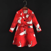 Brand children windbreak clothes England style family matching outfits mom and baby girls outerwear dress mother daughter coats