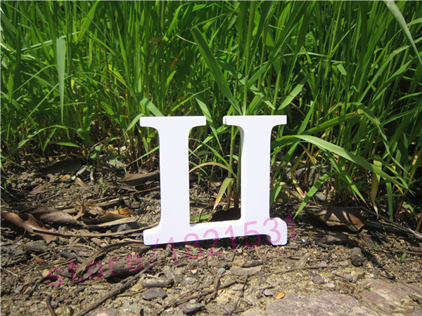 Russian Letter Home Decor Decoration thick artificial Wood Wooden White Letters Height 1 ...