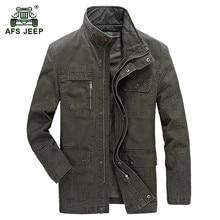 AFS JEEP font b 2017 b font European military casual style men s autumn 100 cotton