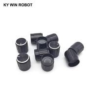potentiometer knob 10pcs 15*17mm aluminum alloy potentiometer 15*17 knob rotation switch volume control knob black (5)