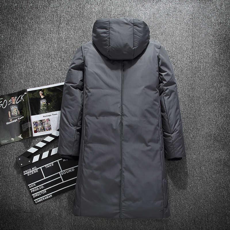 Chaqueta de invierno gruesa cálida de marca para hombre ropa de alta calidad X-Long macho blanco pato abajo abrigo M-3XL
