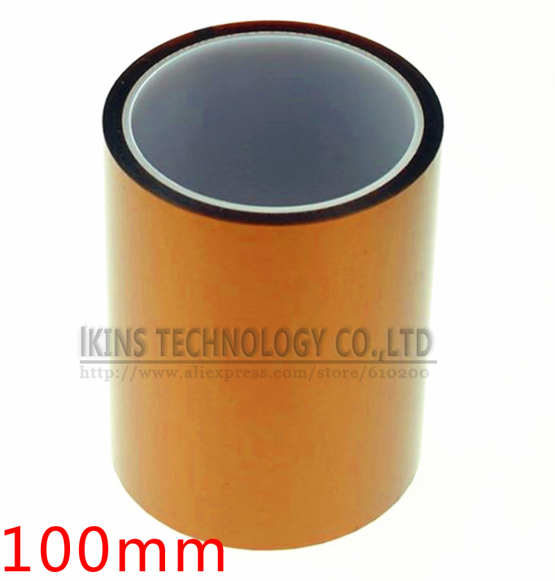 Free shipping 100mm x 33M Brown Heat Resistant High Temperature Polyimide Adhesive Tape high temperature heat resistant polyimide adhesive tape 65mm x 30m 260 300 degree new for electronics industry