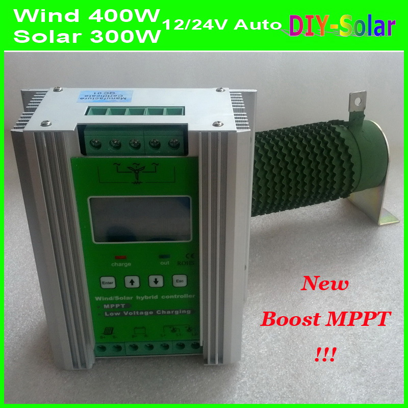 700W 12V/24V Auto-work MPPT Wind Solar Hybrid Controller 35A , 400W Wind Power+300W Solar Hybrid Charge Controller 12V or 24V 450w mppt hybrid controller 300w wind turbine 150w solar panel 12v 24v auto work battery charge regulator solar systen