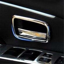 Alijunda! Para Mitsubishi ASX ABS acabamento cromado punho lidar com taças decoração caixas de anel 4 pçs/lote para Mitsubishi ASX auto acessórios