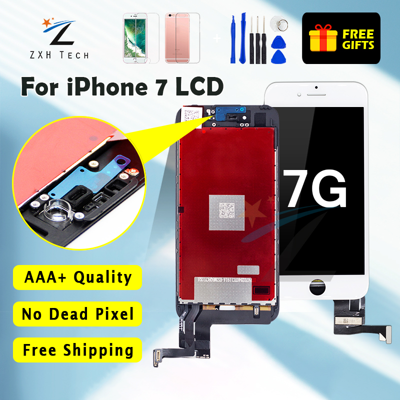 1PCS Grade AAA++ Quality Replacement LCD Pantalla For IPhone 7 LCD Screen Display Good 3D Touch Digitizer Assembly Free Shipping