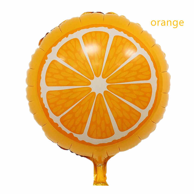 18 Inch Buah Balon Strawberry Semangka Kiwi Pitaya Orange Carambole Balon TK Dekorasi Pesta