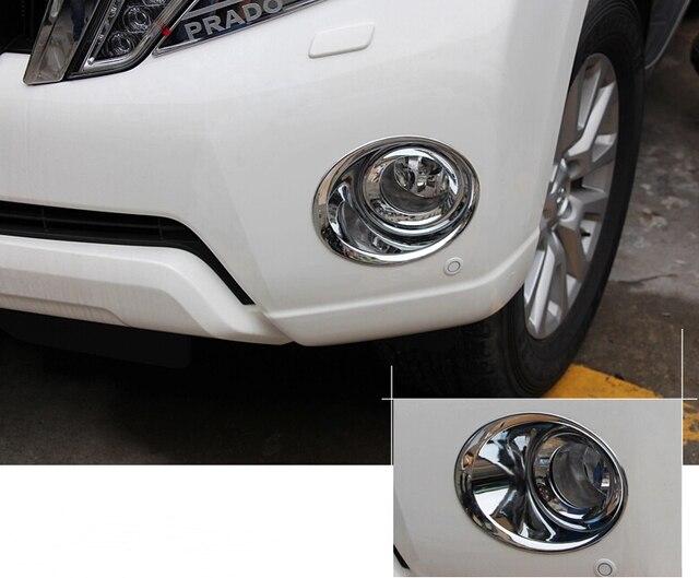 Car head fog light cover,auto front fog light bezel for Toyota Prado 2014-2015 ,ABS chrome,2pc/lot,free shipping