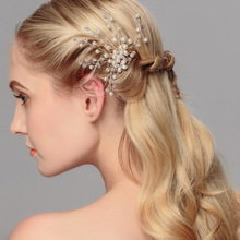 hot deal buy 1pc/lot women bridal hair clip pins crystal fake pearls bride jewelry headpiece festival gifts wedding party ornamen accessories