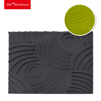 New DIY Silicone Cake Mousse Mat Wheel Texture Mat Mousse Mold Cake Decoration Cake Tools Lace