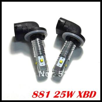 10pcs/lot 25W 881 High Power LED,881 led car,881 fog light,car light lamp auto bulb car lighting Car Styling Free shipping
