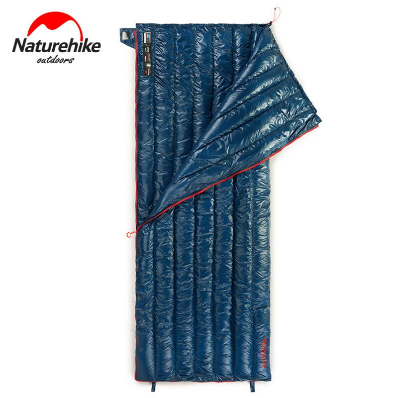 Naturehike Goose Down Sleeping Bag Adult Waterproof Travel Outdoor Camping Hiking Warm Winter Envelope Ultralight Sleeping Bags mobi garden ultralight camping sleeping bag adult tents cotton filler envelope outdoor warm spring autumn hiking bags 1 9 0 73m