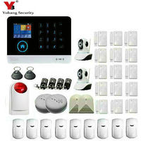 YobangSecurity 3G WCDMA WIFI IOS Android APP Control Home Security Alarm System Smoke Fire Alarm Sensor
