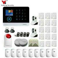 YobangSecurity 3G WCDMA WIFI IOS Android APP Control Home Security Alarm System Smoke Fire Alarm Sensor