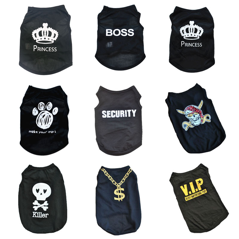 Pawstrip Summer Dog Clothes Puppy Shirt For Dogs Teddy Yorkie Bulldog Dog Shirt Small Dog Vest Pet T-shirt Teacup Puppy Clothes
