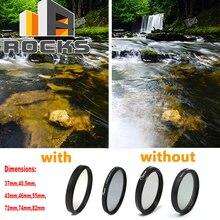 CIR PL 37mm, 40.5mm, 43mm, 46mm, 55mm, 72mm, 74mm, 82mm Polarizador Circular Lens Magro Digital Circular Polarizador Filtro