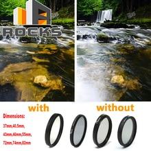 CIR PL 37mm, 40.5mm, 43mm, 46mm, 55mm, 72mm, 74mm, 82mm Polarizzazione Circolare Digitale Sottile Lente Filtro Polarizzatore Circolare