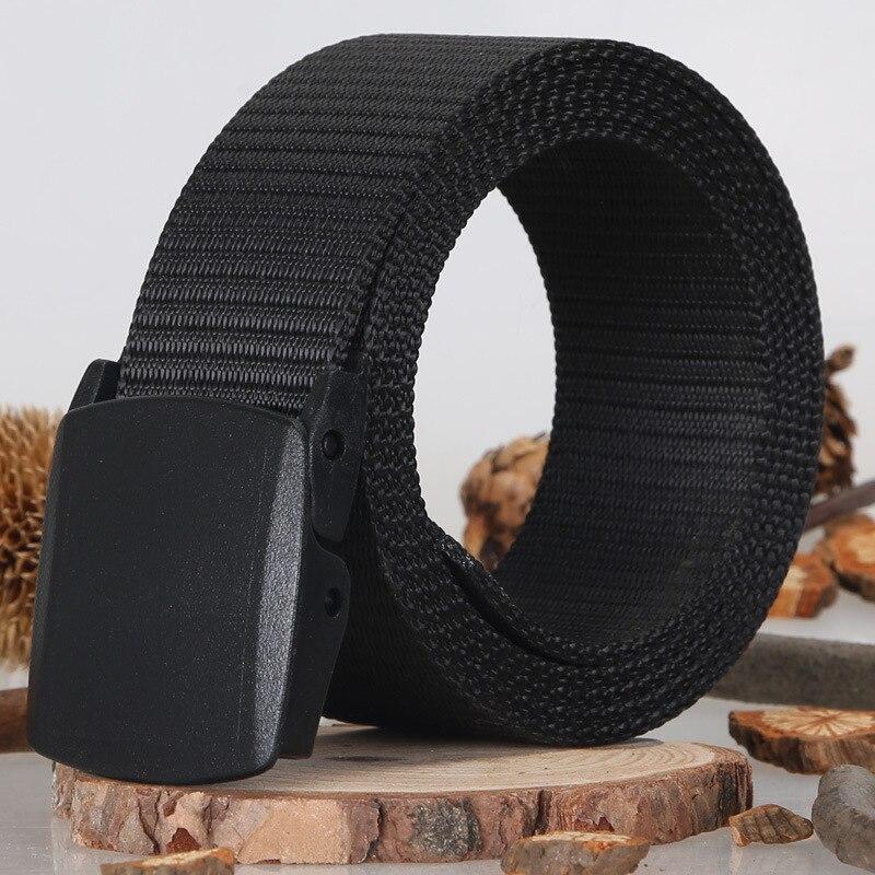 2017 Móda Muži Plátno Pásek Hladké Spony Pásky Armáda Taktika Nástroj Pro příležitostné Pás Divoký Cinturon Hombre Lona Cinto Cool Plain Strap
