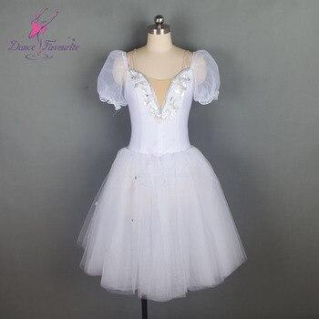 18584 taniec ulubiony nowy średniej długości biały balet tutu Puff rękawem romantyczny kostium baletowy wydajność tutus dla dorosłych i dziewczyna Tutu
