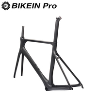 BIKEIN UD Carbon Road Bike Frame BB92 49 52 54 56 58cm 700C With Fork Seatpost