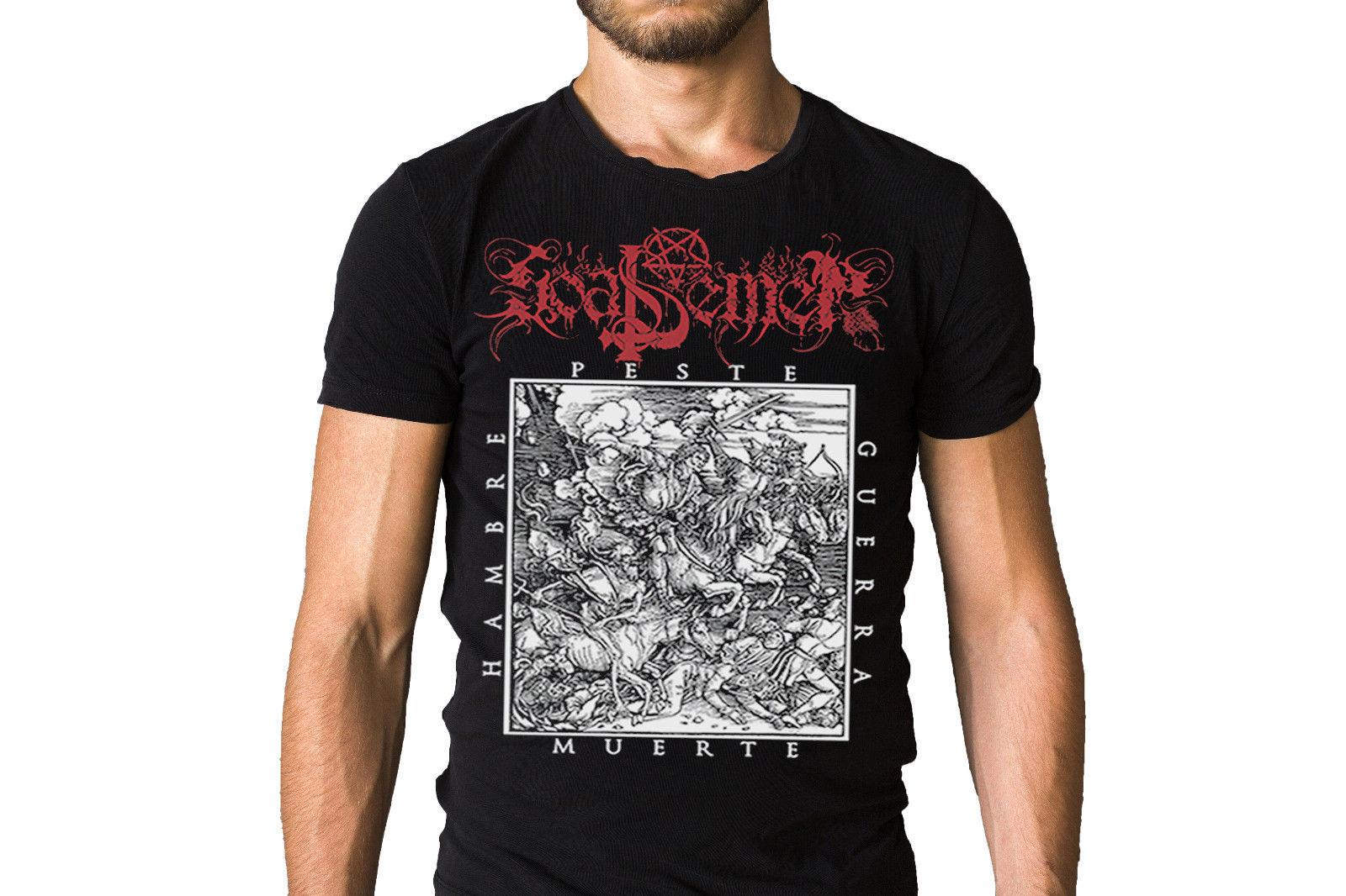 Goat Semen Hambre Peste Y Muerte Album Cover T-Shirt Funny Casual Brand Shirts Top