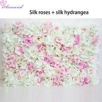 10pcs Artificial Silk Rose Flower Wall Wedding Background lawn/pillar Road Lead Flowers Wall Home decoration