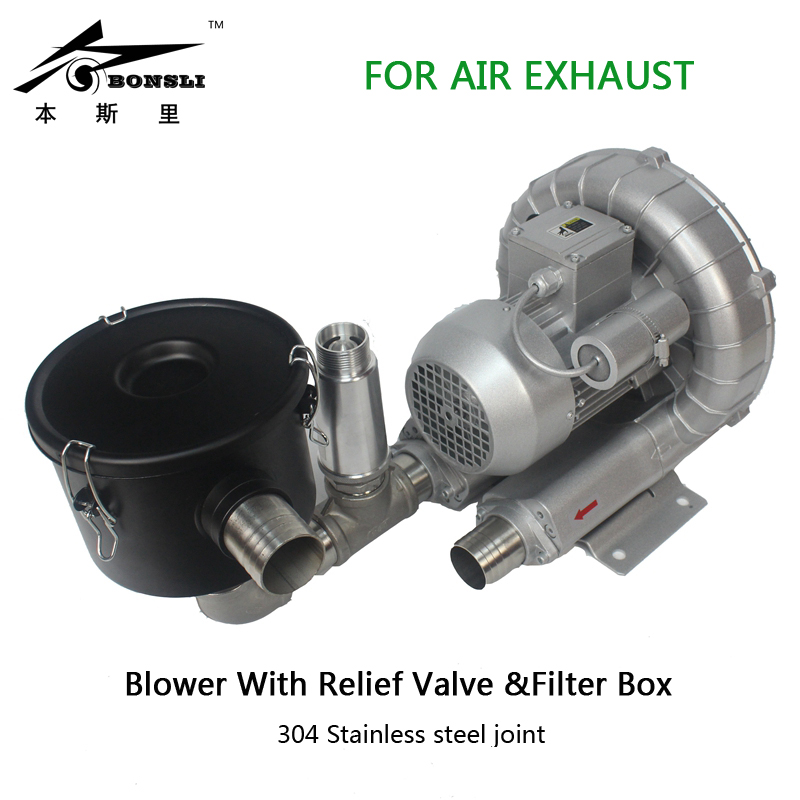 750w single phase 220v side channel blower vortex ring for air exhaust suction