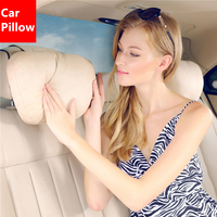 2018 Brand New Car Headrest Neck Pillow For Benz Maybach Super Soft Suede Cover Seat Support Cushion Universal For All Car Model