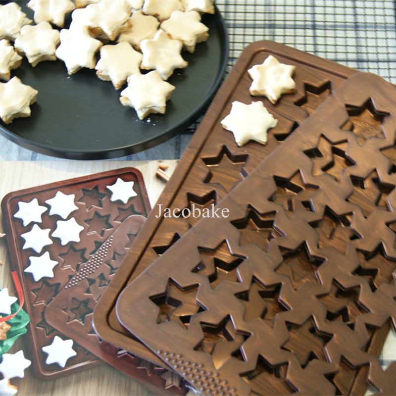Us 18 15 14 Off 2pcs Set Cookie Tools Silicone Molds For Cookies Diy Cinnamon Biscuit Christmas Themed Stars Germany Dessert Zimtsterne In Cookie