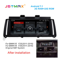 JSTMAX 8.8 Android 7.1 Car Radio Audio Stereo for BMW X3 F25/BMW X4 F26 2014 2015 2016 GPS MP5 Bluetooth WiFiMirrorlink