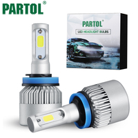 2x72W H4 H13 Hi Lo Beam H7 9005 9006 Single Beam LED Car Headlight Bulbs Driver