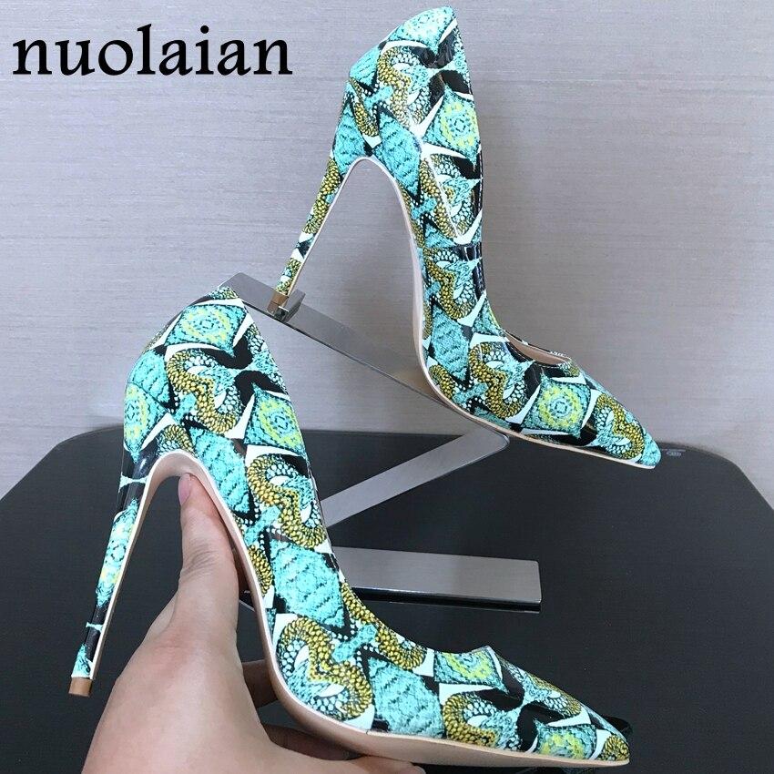 Escarpins femme bout pointu chaussures à talons hauts femmes serpent imprimé cuir dames talons hauts robe de soirée chaussures de base mariage femmes