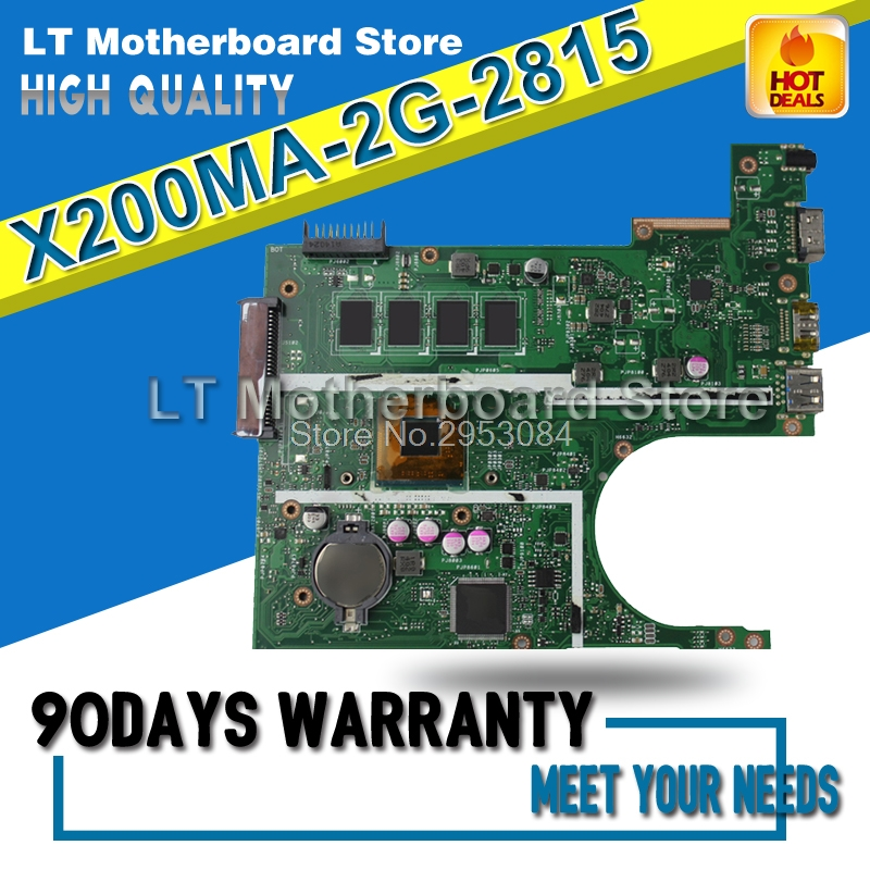 Original Laptop motherboard FOR ASUS X200MA K200MA F200MA mainboard With N2815 CPU 2G Integrated fully test for asus x55u integrated amd laptop motherboard mainboard 100