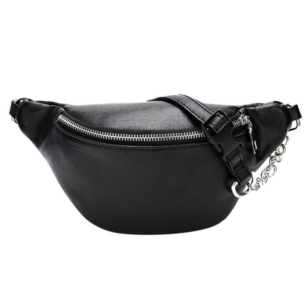 New Women Waist Bag Fashion Leather Travel Waist Fanny Pack Bum Bag For Lady Money Belt Wallet Key Card Pouch