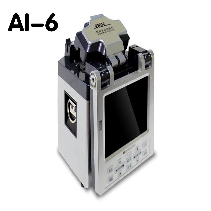 1 шт. 220 В ai-6 автоматический интеллектуальная оптическая Волокно сварочный аппарат Соединительный кабель косичку сращивания покрыты провод...