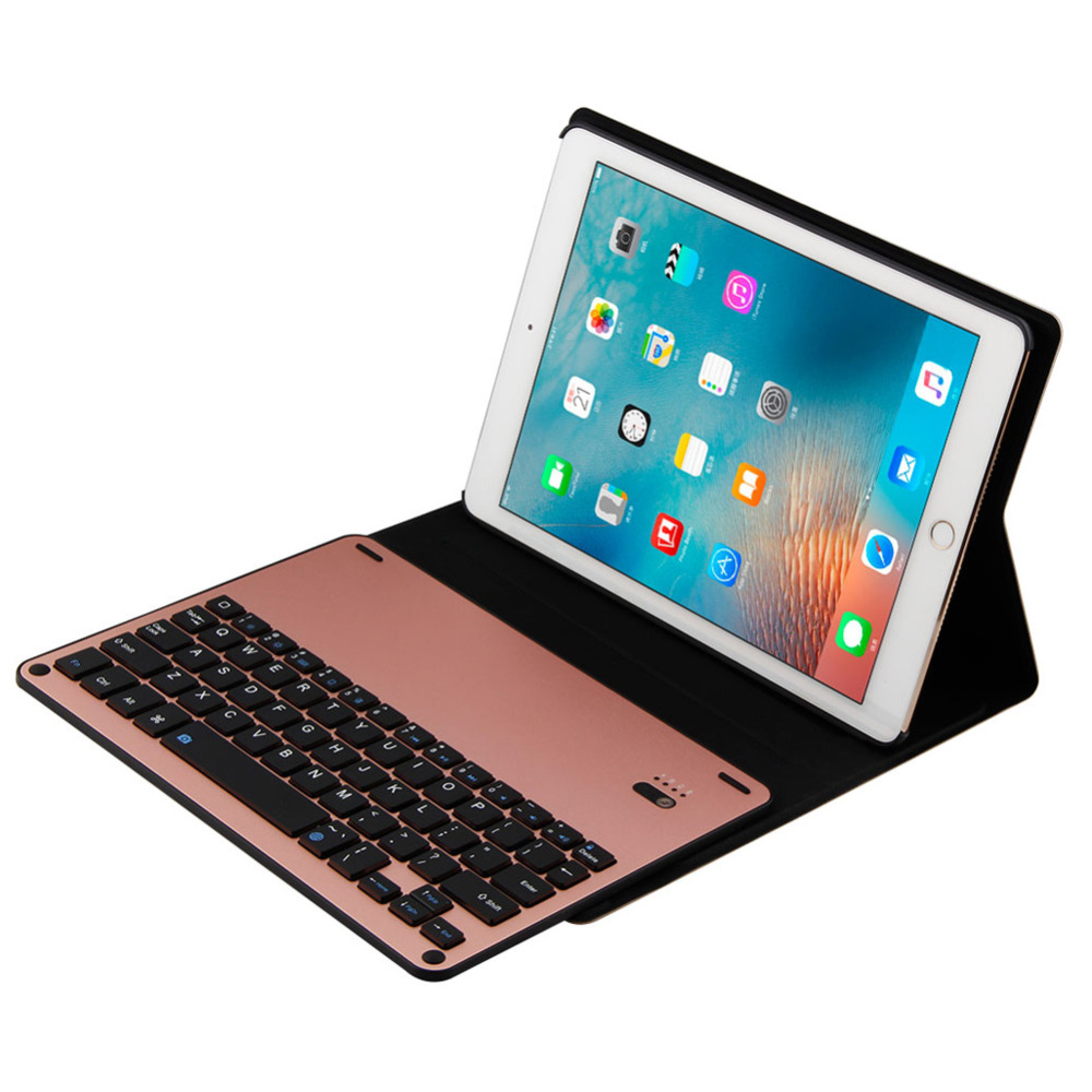 Newest Dustproof  Bluetooth Wireless Keyboard Foldable Case Stand Cover Holder Mechanical Keyboard for iPad air2  iPad pro 9.7 foldable bluetooth v3 0 keyboard for ipad air black